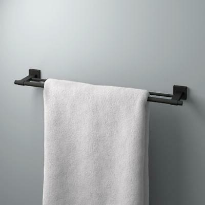 Franklin Brass in. Double Towel in Flat Black MAX25-FB