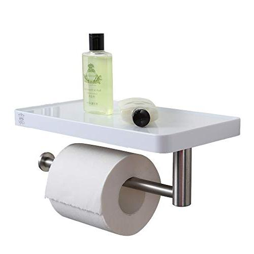 CRW Towel Wall Toilet Paper Holder with for