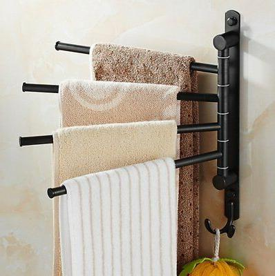 ElloAllo Oil Rubbed Bronze Towel Bars for Bathroom Wall Moun