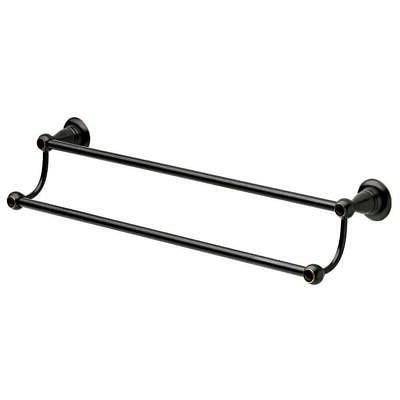 Delta Porter Towel Bar 24 in. Double in Oil Rubbed Bronze Ba
