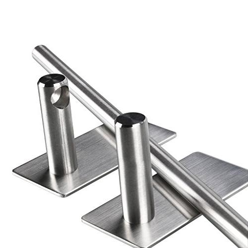 Bar Inch Stainless Holder Organizer for Kitchen Bedroom, Contemporary Style Brushed