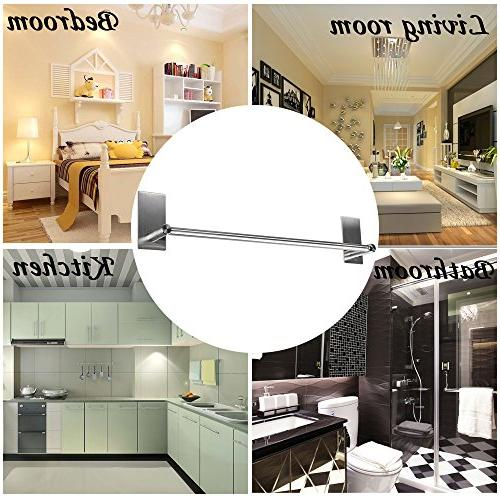 Sumnacon Self Bar 15.75 Inch Stainless Steel Bath Towel Holder Organizer for Kitchen Contemporary Brushed Finish