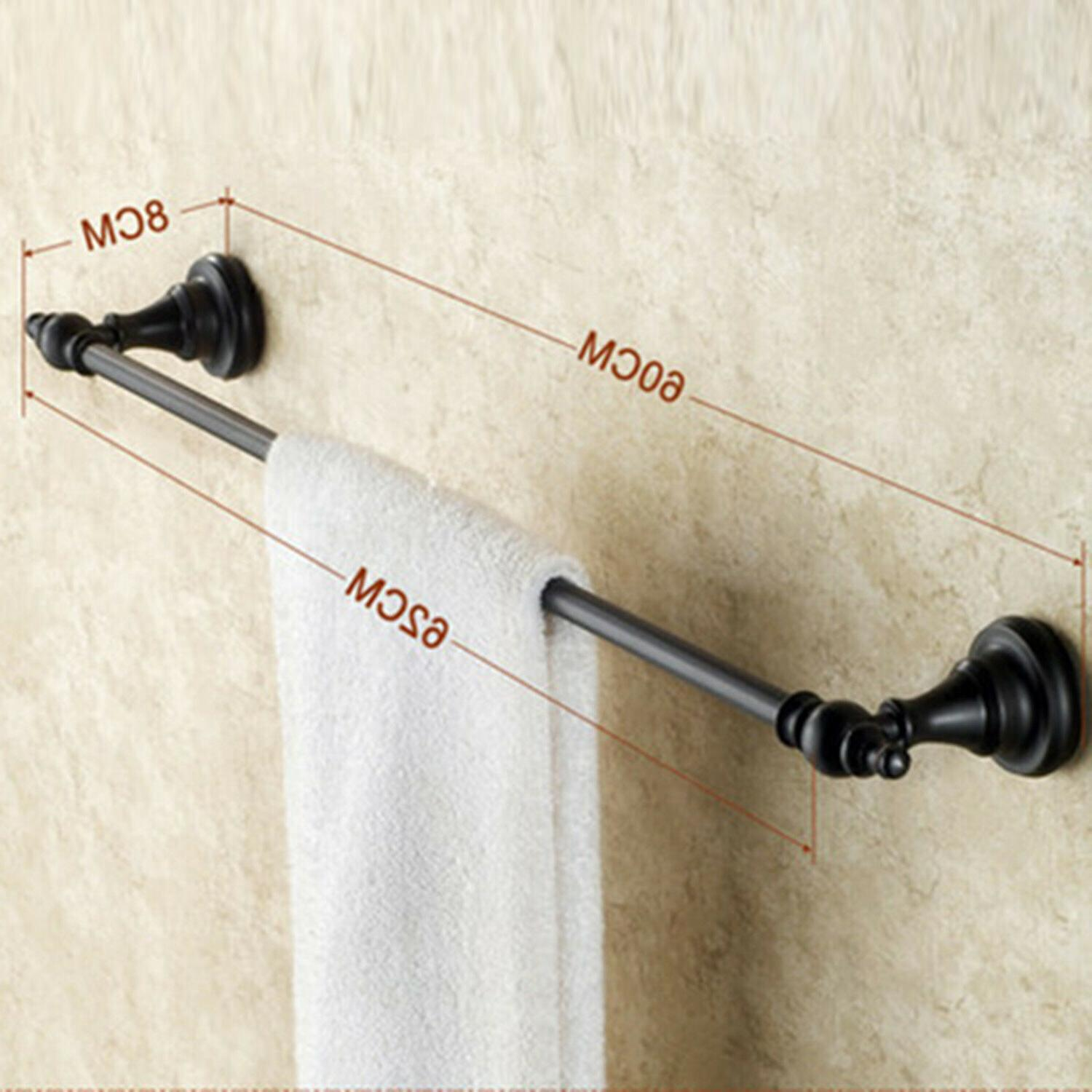 Single Towel for Bathroom Rubbed Bronze Towel Holder,with
