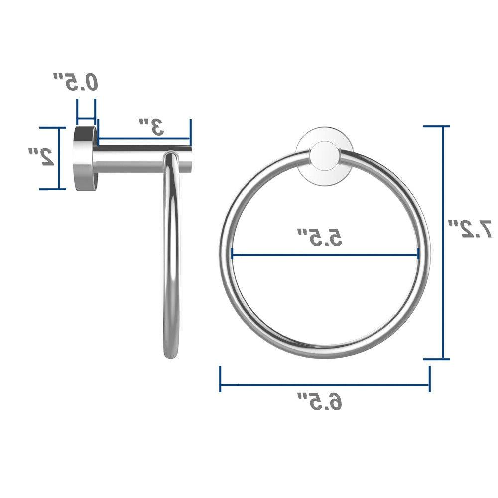 Stainless Steel Wall-Mounted Ring Holder Hanger