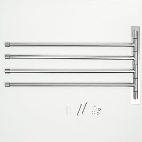 Swing Out Towel Bar - Steel Towel - Saving for Bathroom - with To Finish