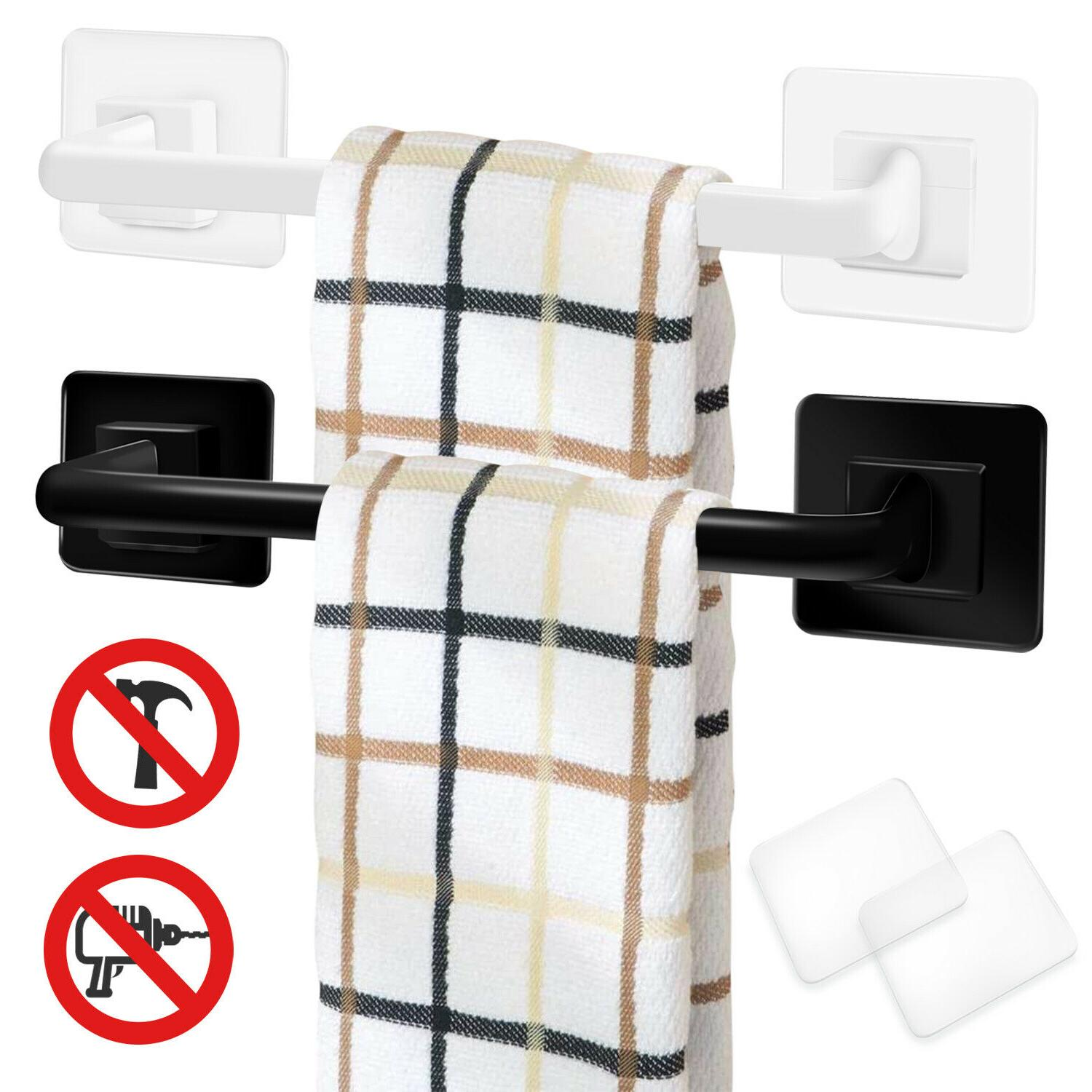towel rack punch free stainless steel wall