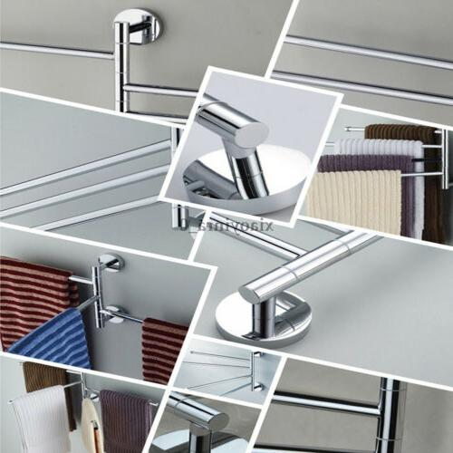US Towel Holder Swivel Bathroom Arm Stainless