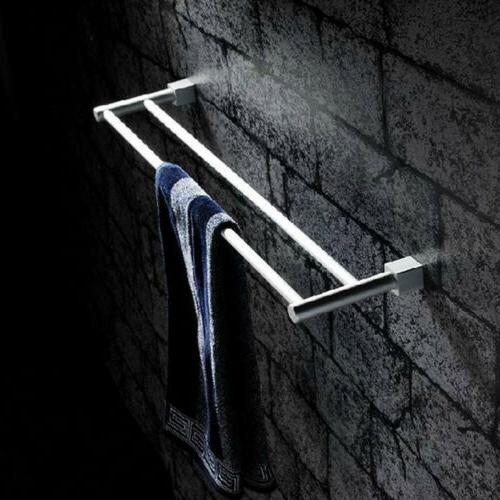 USA Alumimum Towel Double Rack Holder Shelf