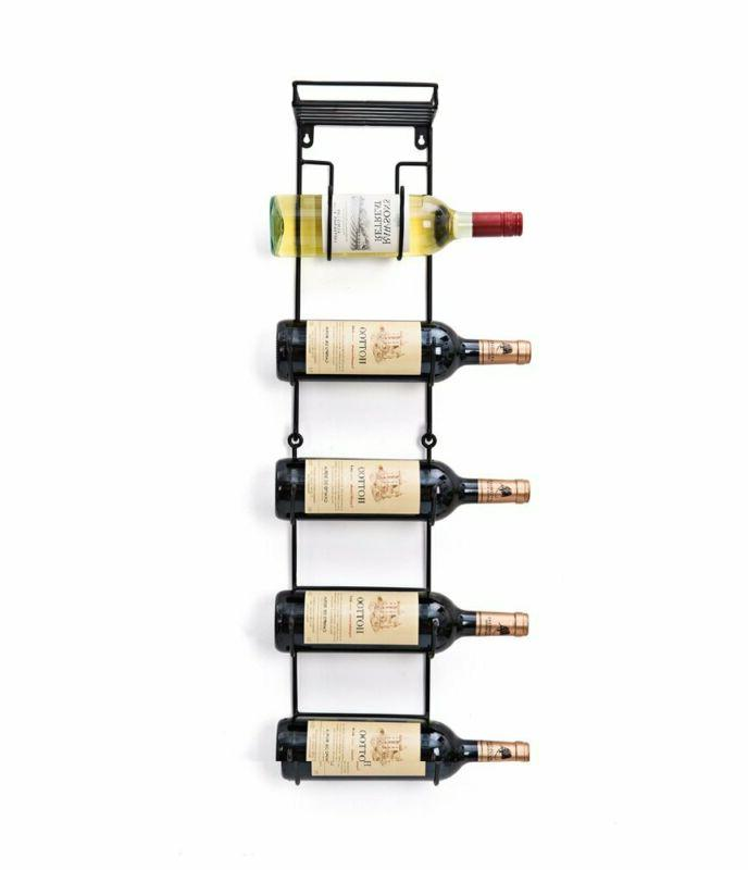 Soduku Wall Mount Wine/Towel Rack With Shelf