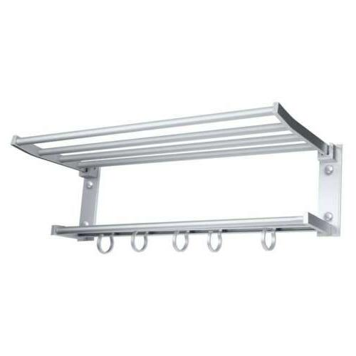 Double Towel Holder Wall Mounted Kitchen Storage US