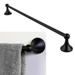 "Lakefront 18"" Towel Bar Holder Rack Bath Accessory, Black"