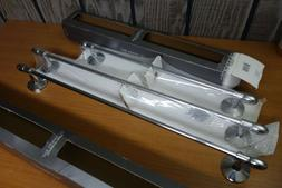 lot of 3 chrome elements towel bars