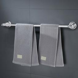 Modern Single Shot Bathroom Towel Bar Brushed Nickel 23.6-In