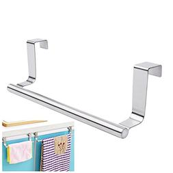 Mziart Modern Towel Bar with Hooks for Bathroom and Kitchen,