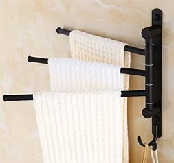 ELLOALLO Oil Rubbed Bronze Swing Out Towel Racks for Bathroo