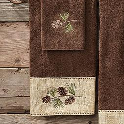 Black Forest Decor Pine Haven Cabin Hand Towel
