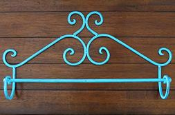 Shabby Chic Metal Towel Bar / Turquoise Or Pick Color / Wall