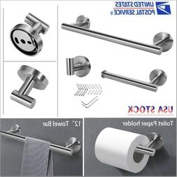 Stainless Steel Bathroom Set Towel Bar , Toilet Paper Holder