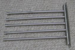KES Stainless Steel Swing Out Towel Bar 5-Bar Folding Arm Sw