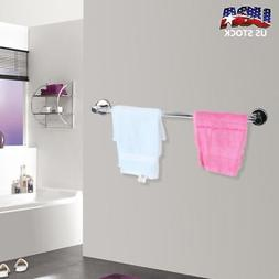 Stainless Steel Towel Rack Bar Wall Rack Mounted Holder Bath