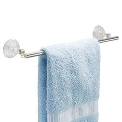 "InterDesign 16"" Suction Towel Bar, Stainless Steel"