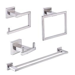 KES SUS 304 Stainless Steel 4-Piece Bathroom Accessory Set R
