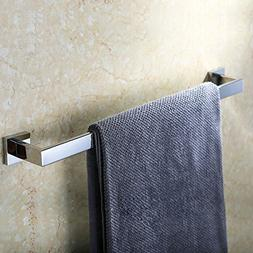 Kes SUS304 Stainless Steel Single Towel Bar Wall Mount, Poli