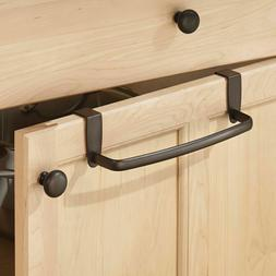 """Towel Bar iDesign Axis 9"""" Over-the-Cabinet Towel Bar  Blac"""