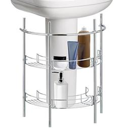 Under-the-Sink Bathroom Quality Pedestal Storage Rack with 2
