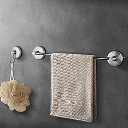 JOMOLA Vacuum Suction Cup Bath Towel Bar Towel Hook Bathroom