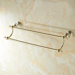 Wall Mount Gold <font><b>Towel</b></font> HolderBathroom <fo