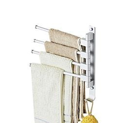 Yafeco Wall Mounted Bathroom Swing Towel Bars Swivel Towel S