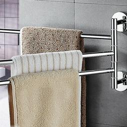 Wall Mounted Towel Bar Rack Rail Holder Storage Shelf Bathro