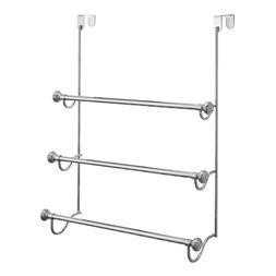York Metal Over Shower Door Towel Rack